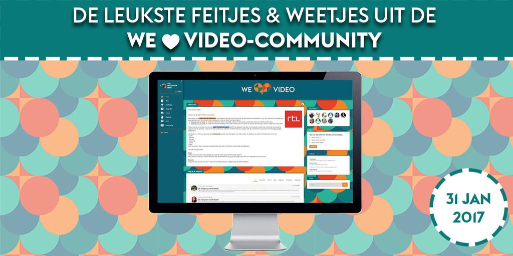 Update van de WE ♥ VIDEO-community
