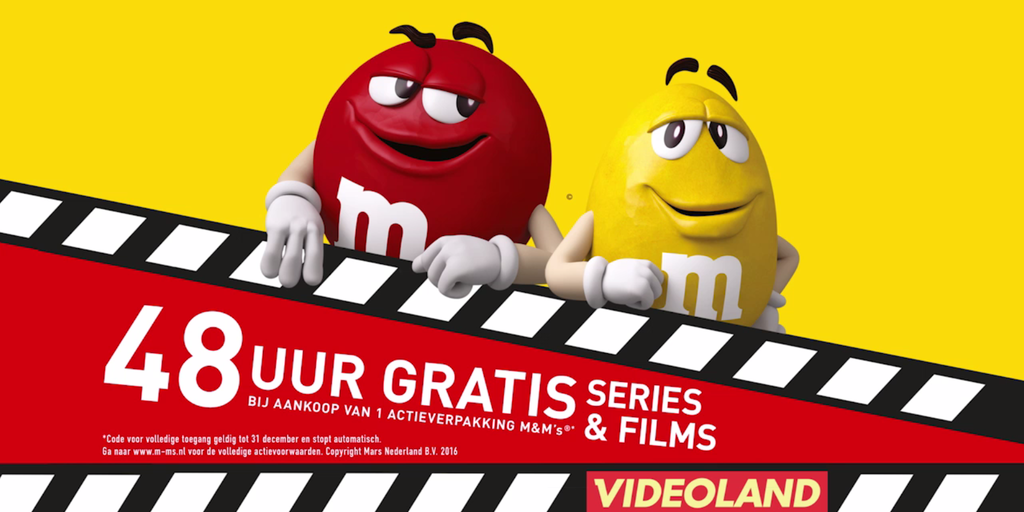 M&M's, Videoland, RTL 5 & StukTV