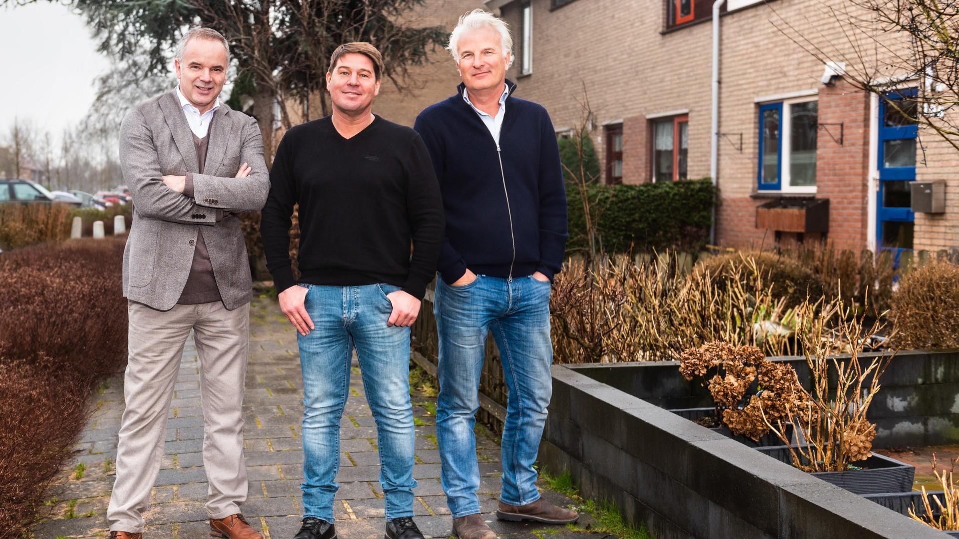 v.l.n.r.  Alex van Keulen, Martijn Krabbé, Bob Sikkes