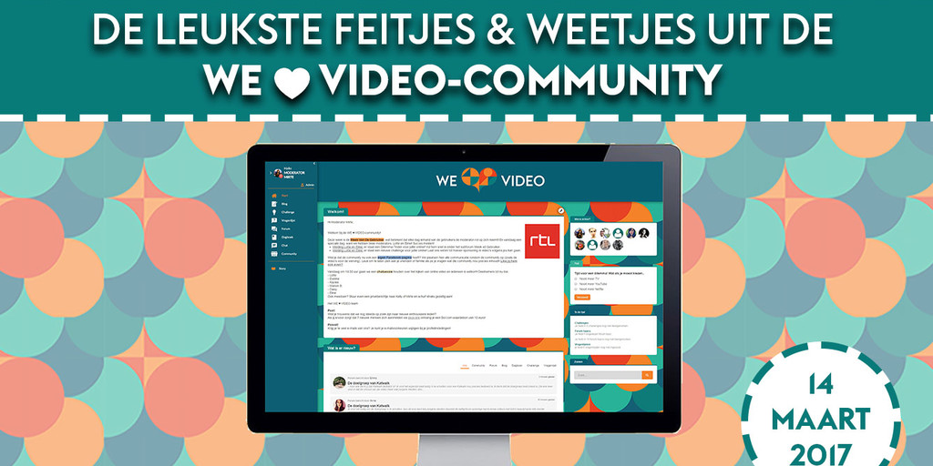 Update van de WE ♥ VIDEO-community